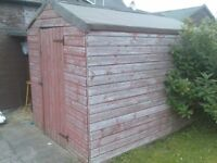 GARDEN SHED 8' X 6' GOOD CONDITION
