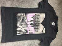 Next - mens graphic t shirt - love life / tattoo - size extra small