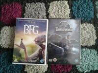 new bfg and jurassic world dvds £4 each