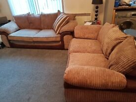 3 seater soft brown sofa, only 2 years old