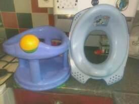 Childs bath seat & toilet seat