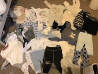 Bundle of baby boys clothes 0-3 months