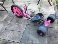 Huffy pink 3 wheel 'green machine' go cart