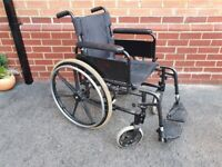Self propelled Wheelchair. Black sporty designed disabled wheel chair