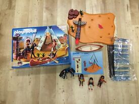 Playmobil 4012 Western native American Camp in as new condition