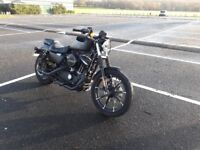 Pillion pegs+seat, foŕward controls,biltwell mini canons muflers