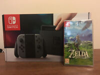 Nintendo Switch+ Zelda Breath of the Wild