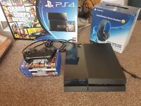 Playstation 4, games and headset