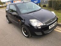 2007 FORD FIESTA 1.2 STYLE CLIMATE PETROL MANUAL 3 DOOR HATCHBACK BLACK 5 SEAT NOT FOCUS CORSA CLIO