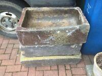Reclaimed antique troughs