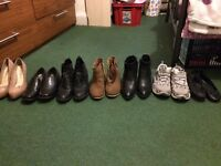 7 pairs woman's shoes size 4-5