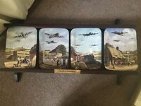 Limited edition Davenport 'south in formation' commemorative display plates