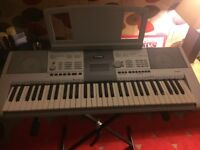 Yamaha PSR-295 Keyboard Immaculate Condition. Case and Stand included