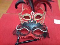 2 x masquerade ball masks