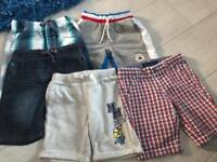 Five pairs of boys shorts aged 4-5