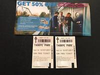 2x Thorpe Park Tickets for 12/07/2017