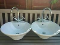 Pair of mixer taps