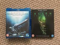 Prometheus to Alien box set/Alien Covenant blu rays