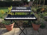 Yamaha piano and synthesiser portasound and stand