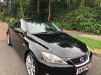LEXUS IS 250 SPORT 56 REG IN BLACK WITH GREY TRIM,FULL SERVICE HISTORY AND MOT MARCH 2019