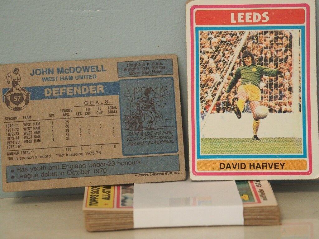 TOPPS Football bubblegum cards - 1975-76 Blue backs