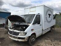 Mercedes Benz sprinter 412d Breaking engine gearbox axel prop shaft ecu set kit