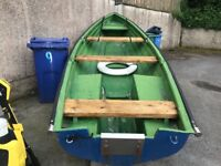 Fishing boat with trailer