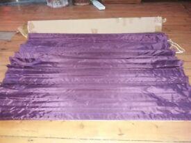 Purple Faux Silk Roman Blackout blind.