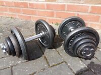 40KG CAST IRON DUMBBELL WEIGHTS SET
