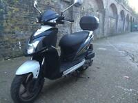 2013 SYM Jet4 125cc learner legal 125 cc scooter. 1 Years MOT.
