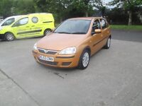vauxhall corsa 1.2 uk car full service history rear to get like this must be seen