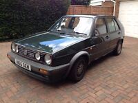 1991 VW GOLF MK2 GTI 16V, OAK GREEN, FULL ENGINE REBUILD, ALL MECHANICAL PARTS NEW! PROJECT