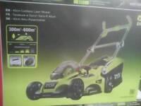 Ryobi lawnmower setwith vac and blower