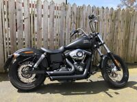 Harley Davidson Dyna Street Bob FXDB Denim Black with Stage 1/Vance & Hines Short Shot Pipes