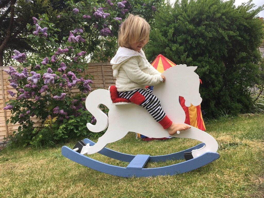 Vintage rocking horsein Bournemouth, DorsetGumtree - Beautiful and Robust vintage rocking horse, painted white. Used bit in perfect condition. For fun outdoors and indoors