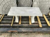 Garden concrete bench