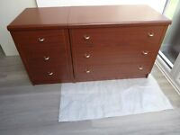 3 DRAWER BEDSIDE CABINET AND 3 DRAWER CHEST OF DRAWERS