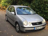 Volkswagen VW Polo 1.4 SE, 5 doors, Silver, Petrol, Manual, FSH, MOT til 29/04/17 - Aux point