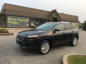 2016 Jeep Cherokee Limited / leather / navi / sunroof / awd /