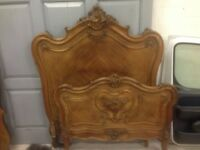 French antique Louis double bed gorgeous