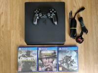 PS4 slim 500GB console & games