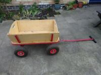 Pull Along Wooden Trailer with removable sides