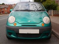 Daewoo Matiz 0.8CC 2002 manual Petrol Green 5 door Alloys Low mileage Lady owner