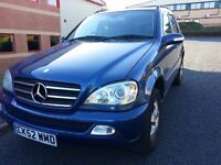 2002 52 Mercedes Benz ML270 CDI Automatic Diesel - FULL MOT JUST DONE