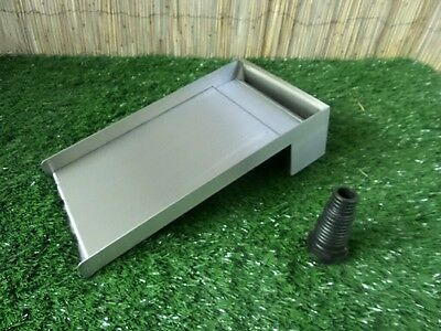 200mm Stainless Steel Waterfall WATER BLADE Cascade 300mm Spout BOTTOM INLET