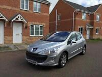 2008PEUGEOT 308 12 MONTH MOT FULL SERVICE HISTORY LOW MILEAGE FULL HPI CLEAR CROUIS CONTROL