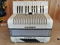 Hohner Student VM, 48 Bass, 26 Treble Keys, Piano Accordion. Lessons Available.