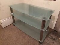 Chrome & Glass TV Unit for sale