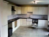 Kitchen units, granite work top, belfast sink