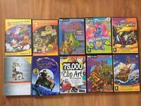 Kids pc games dvds and fitness DVD